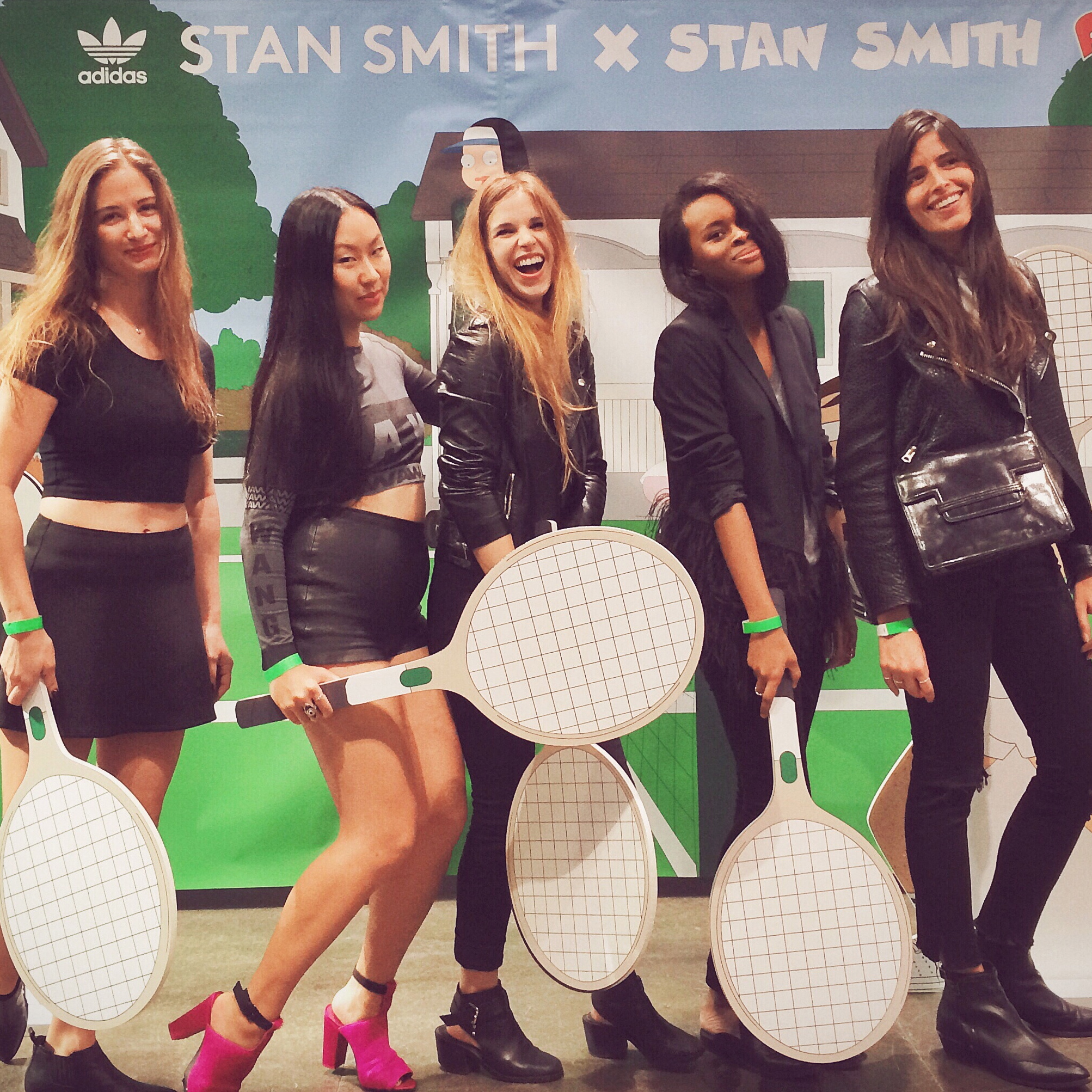 Lena Vanderford, Marie McNally, Dione Davis, Chelsea Claridge, Adidas Stan Smith Event, New York 2014